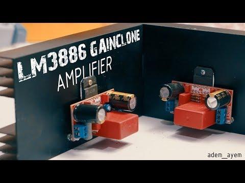 LM3886 super gainclone amplifier DIY