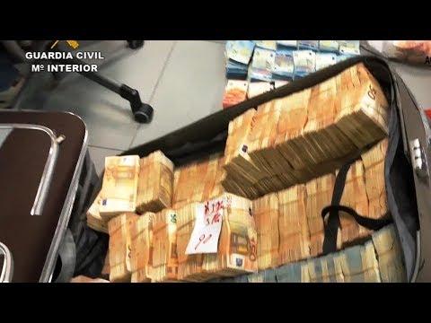 Evadieron A China Más De 40 Millones! Madrid Operación Alquimia 23 Registros Y 13 Detenidos