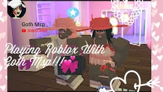 Playing Roblox with Goth Msp!