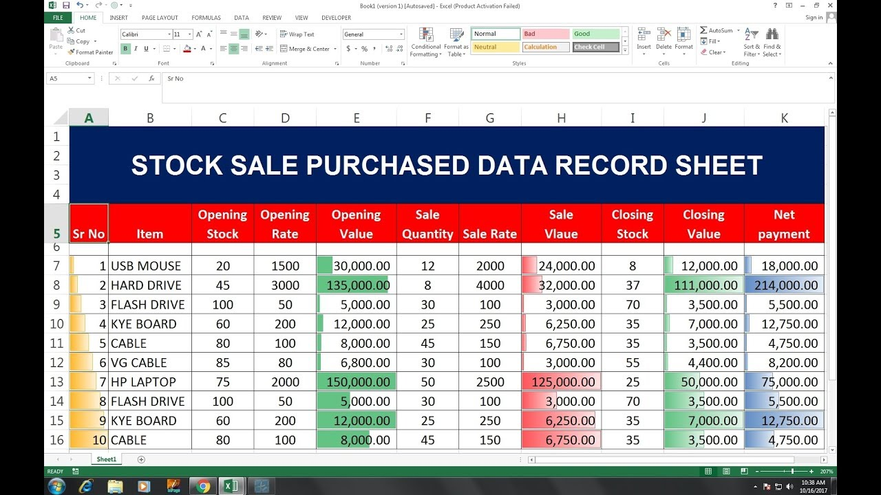 52 Inventory Solution Microsoft Excel Youtube