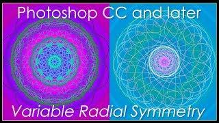 2018 Photoshop CC: Değişken Radyal Simetri kullanarak Güzel Mandalas & Spirographs Oluşturun.