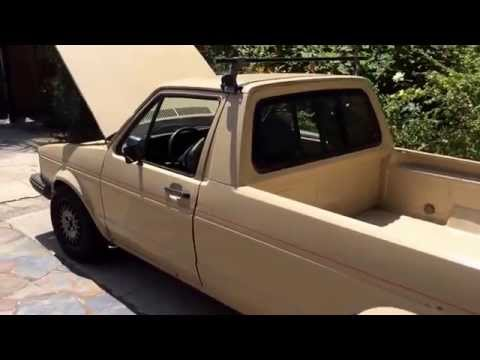 1981 Volkswagen Caddy Rabbit pick up truck idle and revving, 1.8L 8v FOR SALE