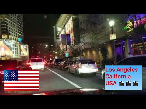 Los Angeles Driving Tour: Emmy night in Downtown LA, Motorcycle Police Escort & Pink Corvette Update