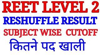 reet level 2 latest update, waiting list update, subject wise cutoff, कितने पद खाली।