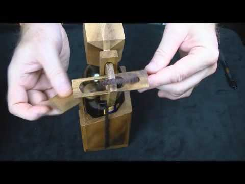 Wine Or Beer Bottle Wood Brain Teaser Puzzle How To Get
