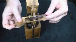 Repeat youtube video Wine or Beer Bottle wood brain teaser Puzzle - How to get the Bottle OUT -CreativeCrafthouse.com