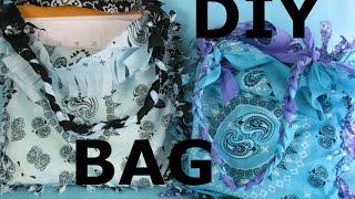 DIY Bandana Bag Purse Easy Home NO SEW Project Make It Yourself Tote