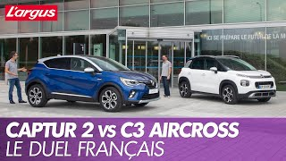 Renault Captur 2 vs Citroën C3 Aircross : premier match statique en vidéo