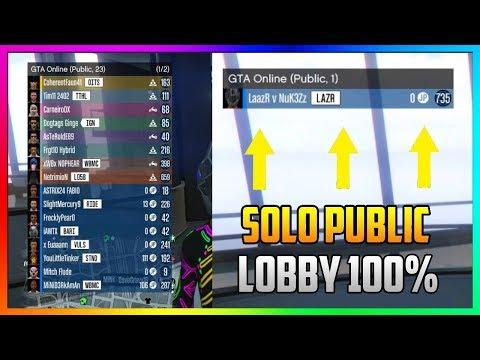 How to Join EMPTY Public Lobby on GTA 5 Online | WORKING SOLO PUBLIC LOBBY GLITCH (Xbox One/PS4/PC)
