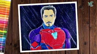 How to draw Iron Man Tony Stark step by step | Avengers endgame Iron Man drawing