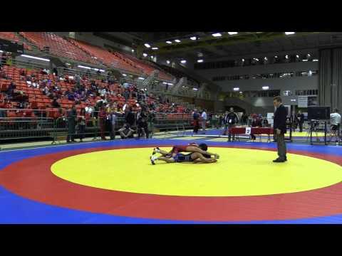 2014 Junior National Championships: 50 kg Andre Chicas vs. Richard Cux