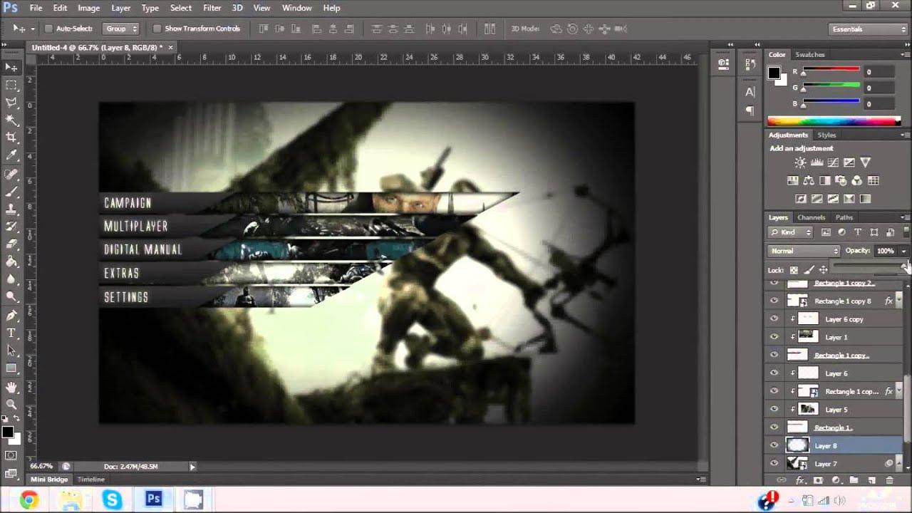 Crysis Main Menu Design ArrayArts Entry By JilokGFX YouTube - Game menu design