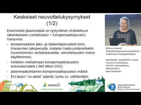 LULUCF asetusehdotus: tilannekatsaus, Jaana Kaipainen, MMM