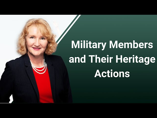 Military Members and Their Heritage Actions