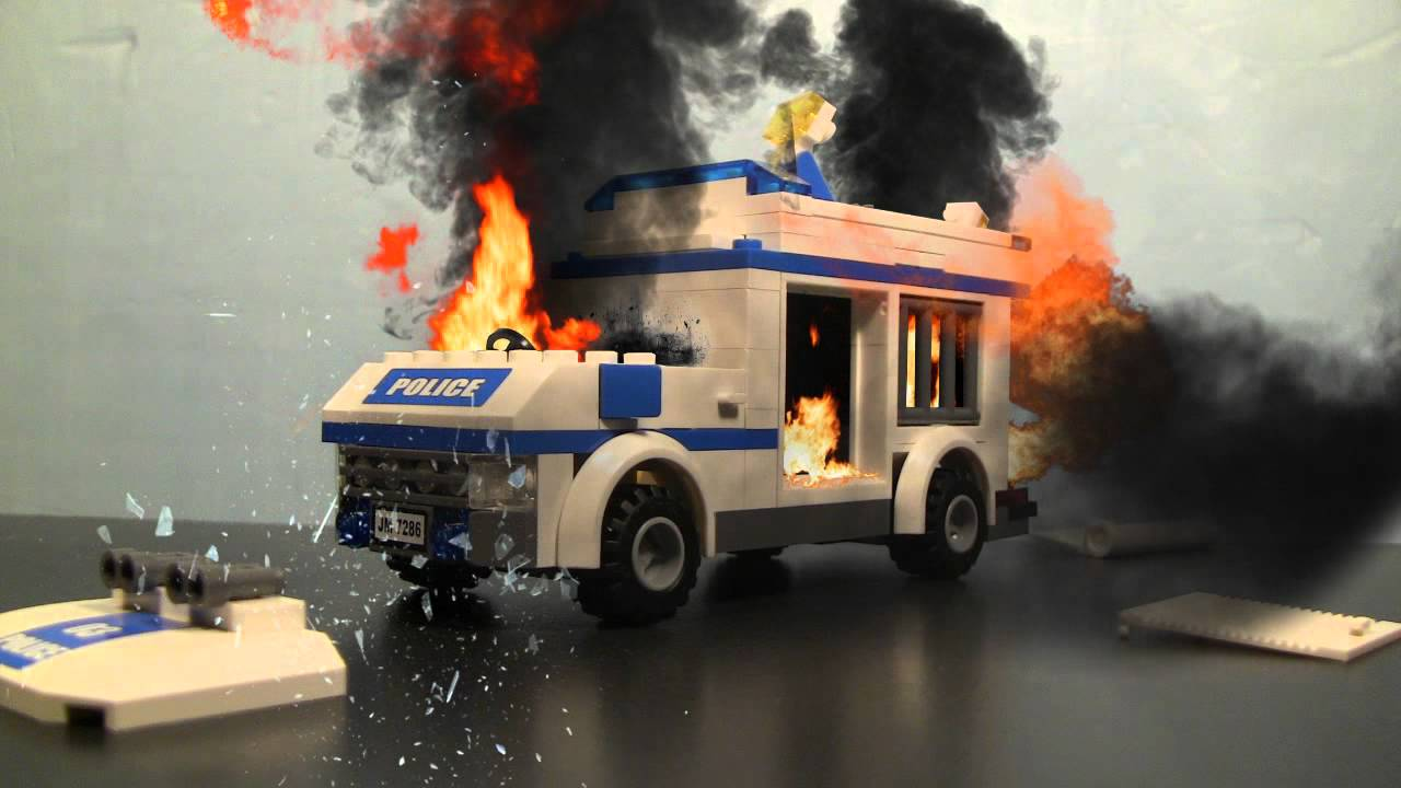 LEGO Car Explosion Test