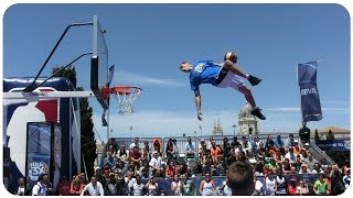 Face Team Acrobatic Slam Dunk shows #NBA