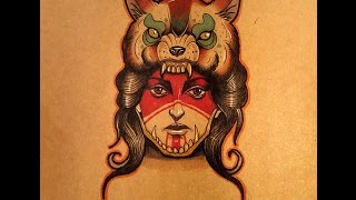 How to Draw a Native American girl with a Wolf Headdress by thebrokenpuppet