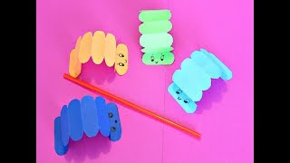 гусеница из бумаги Игрушка для детей. Gusano/Oruga de papel Juego para nios. Paper Caterpillar toy