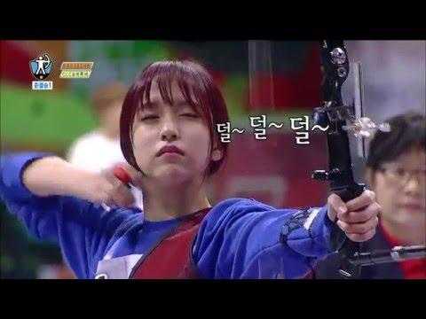 【TVPP】MiNa(Twice),Seung-Yeon(CLC) - Archery Semifinal, 미나,승연 – 양궁 준결승 @2016 Idol Star Championships