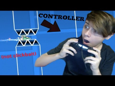 USING A CONTROLLER FOR THE FIRST TIME! - CC Challenges P.17 (Geometry Dash)