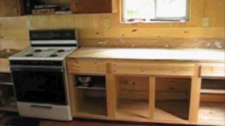 Off Grid Cabin - Installed Plywood Floor & Stove - 10-3