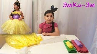 как сделать платье ТУТУ из пакетов. Из подручных материалов.(Эмилия) Юбка ТУТУ из мешков для мусора