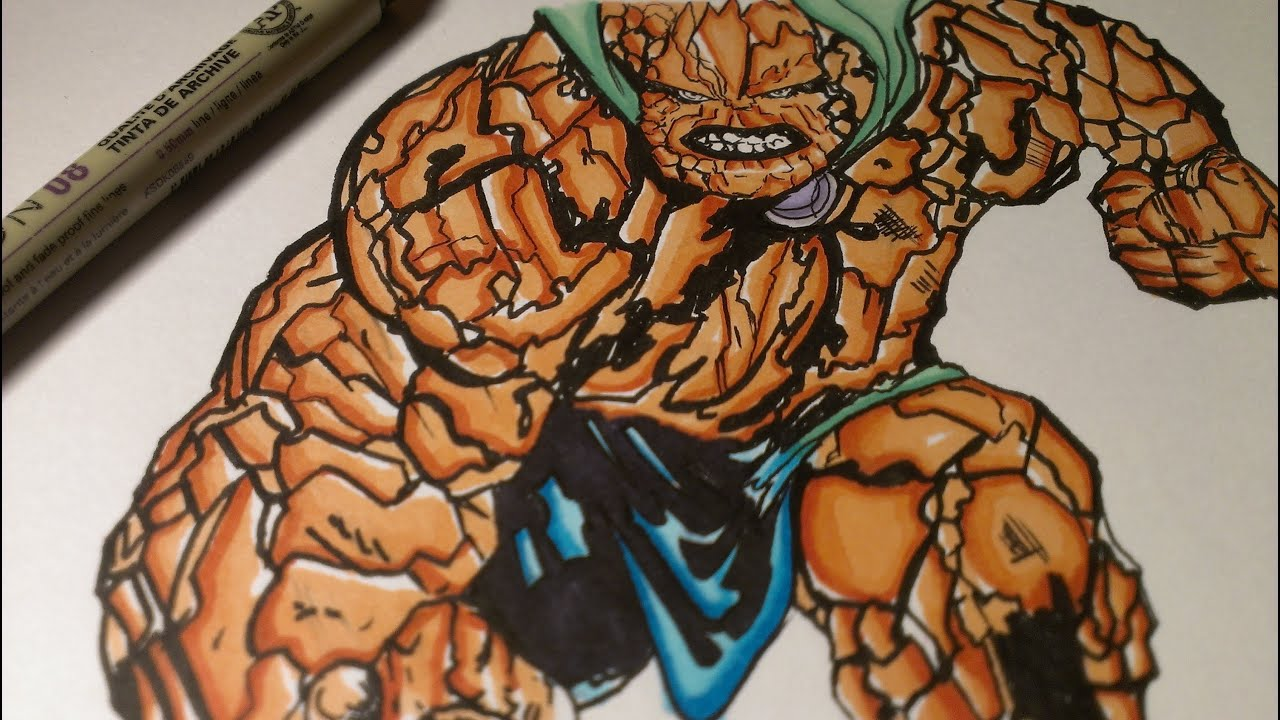 Drawing The Thing, Marvel Comics Fantastic Four - YouTube