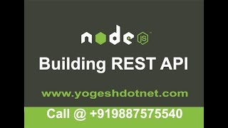 building rest api with node.js and express    Hindi