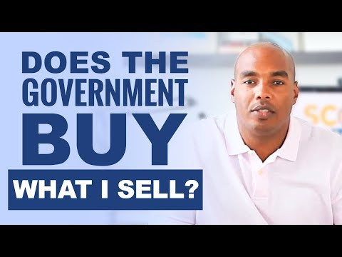 Does the government buy what I sell? Learn who are your customers!