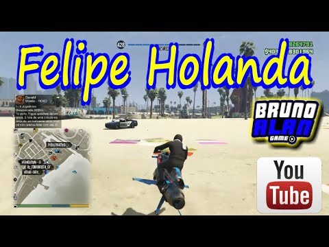 GTAV ONLINE PS4  FELIPE HOLANDA Treining PRAIA