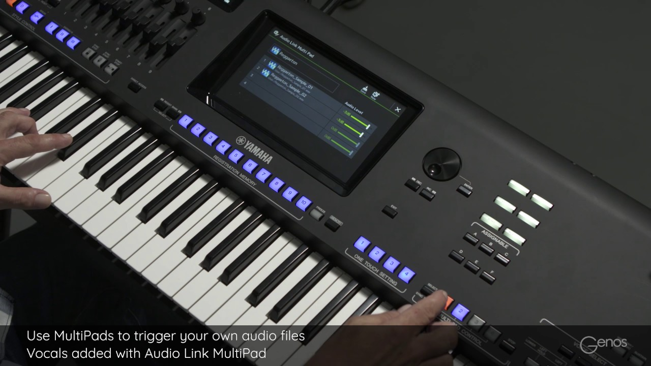 Audio Link MultiPad - trigger your own audio files with MultiPads  Yamaha  Genos