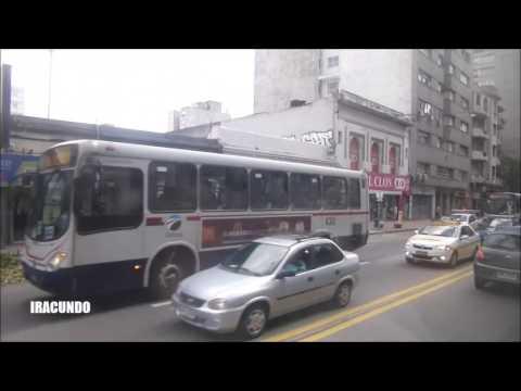 Paseando  desde el bus  por  Montevideo --Uruguay