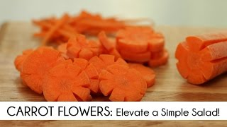 Carrot Flowers: An Easy Way To Elevate A Simple Salad
