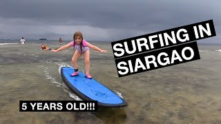 5 YEAR OLD SURFING in SIARGAO Philippines | Family Travel Vlog