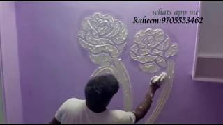 Wall texture | Drywall Texture Design | Wall putty Design