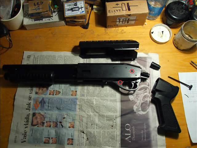 Brokovnice S&W M3000 tunning upgrade shotgun disassamble