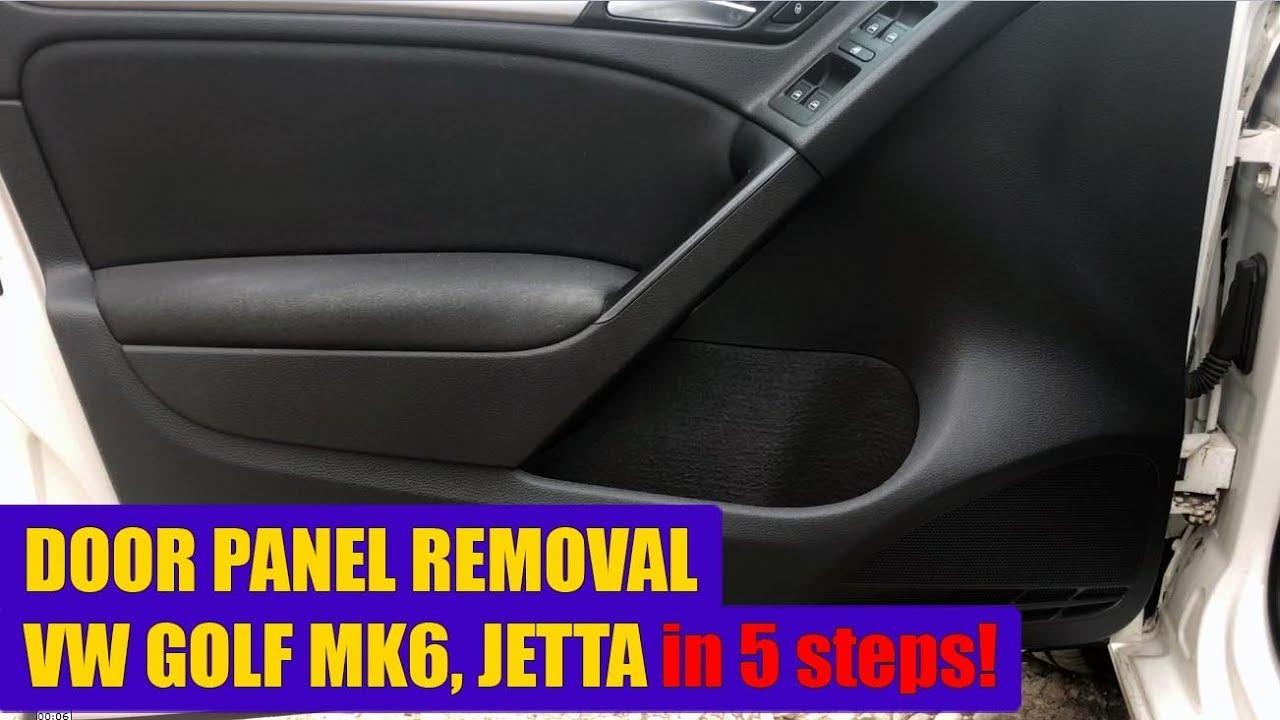 TUTORIAL: How to remove driver door panel VW Golf Mk6, Jetta 2008 – 2012 in  5 steps