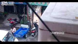 Wife Beater Gets A Painful Dose Of Street Justice