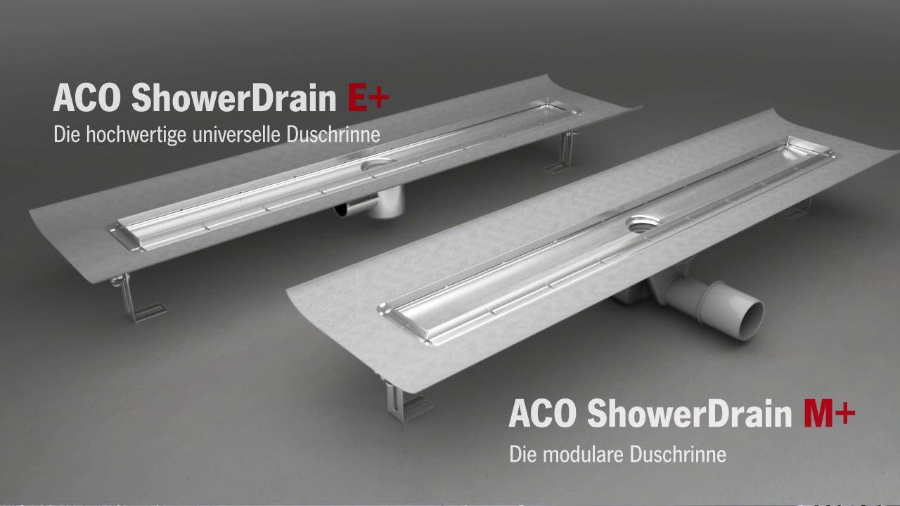 die neuen aco duschrinnen - youtube