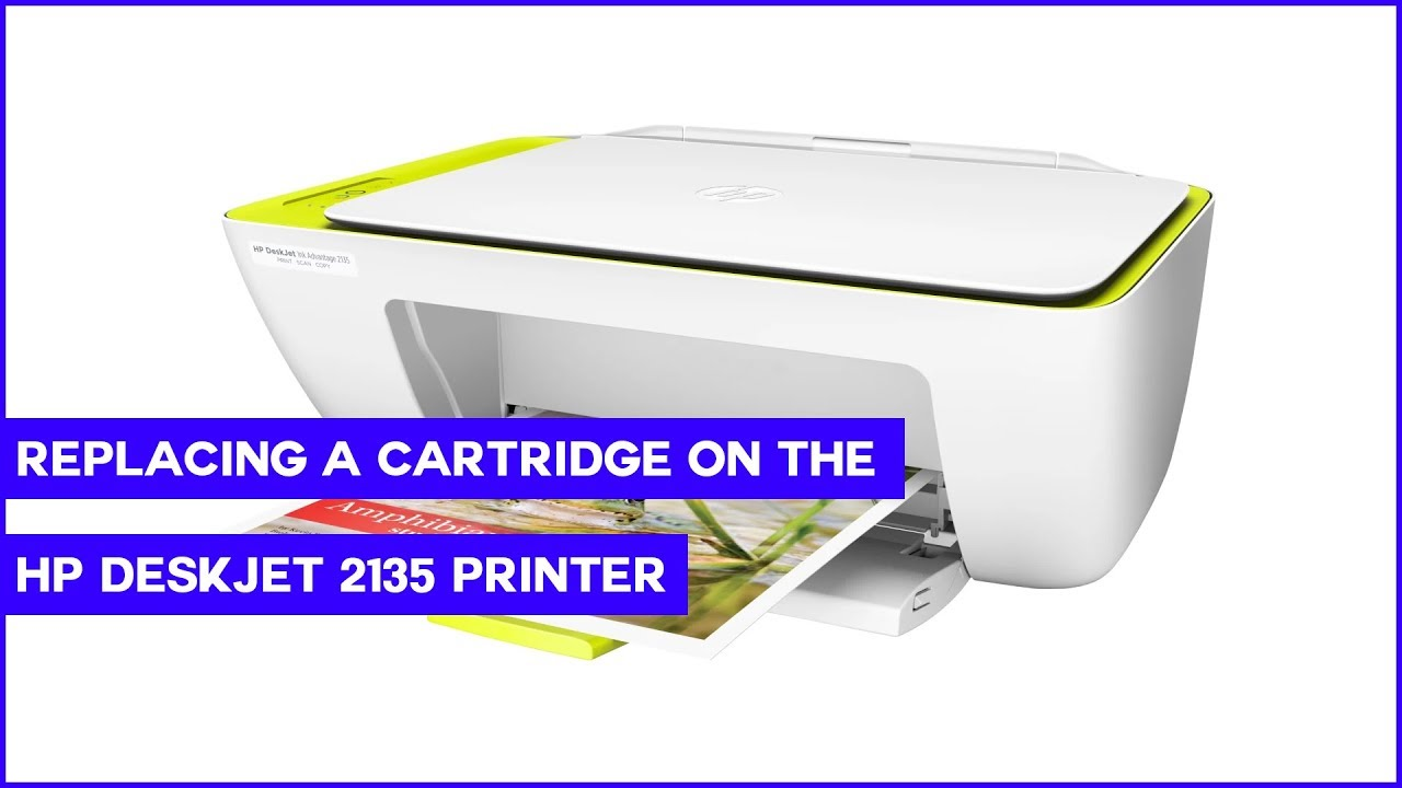 Replacing An Ink Cartridge On The Hp Deskjet 2135 Printer Youtube Tinta 680 Colour Original
