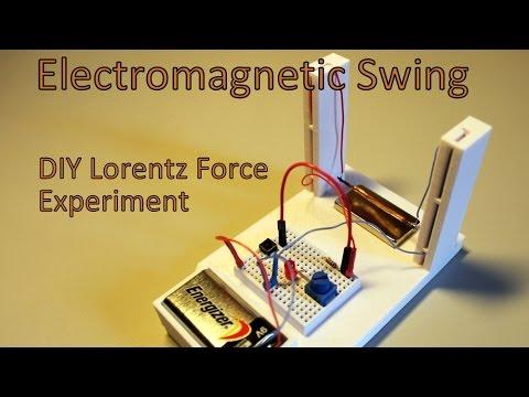 Electromagnetic Swing - DIY 3D Printed - Lorentz Force Experiment