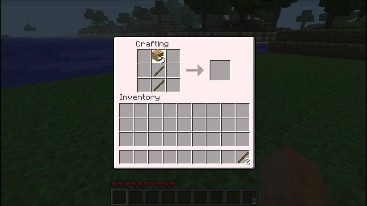 Pc Minecraft How To Craft Shovel