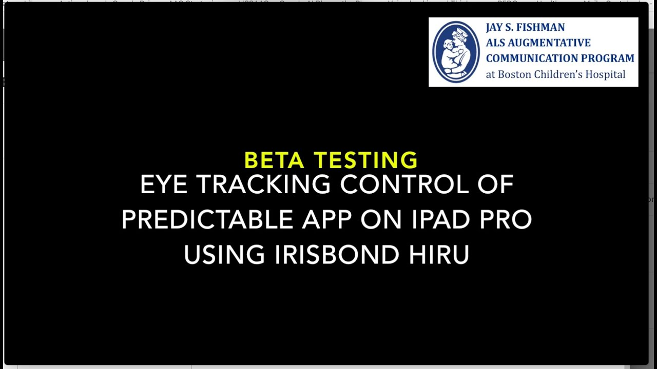 John Costello beta tests Predictable with eye tracking