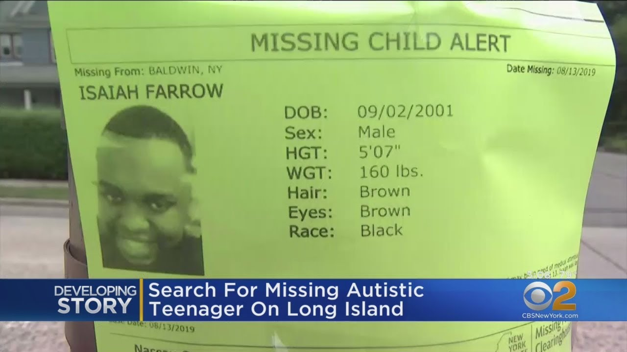 Search For Missing Teenager With Autism On Long Island
