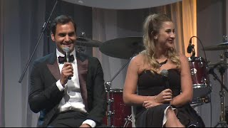 """Roger Federer reflects on his """"rock solid"""" relationship with Mirka 