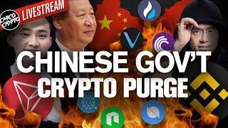 Chinese Cryptos TOO RISKY! Govt. Crack Down Begins!