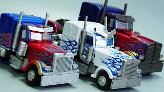 TRANSFORMERS STOP MOTION - Optimus Prime vs Decepticon Robot Truck Transform in real life at Home!