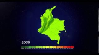Cambios en la Temperatura Media Anual para Colombia 2015 - 2100