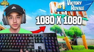 Brecci Pro PC Player Tries Out *NEW* Better Stretched Resolution in Fortnite: Battle Royale!