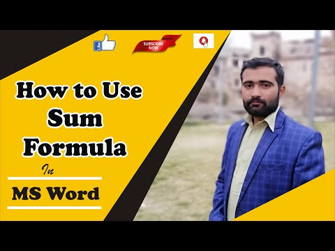 How to Use Sum Formula in MS Word